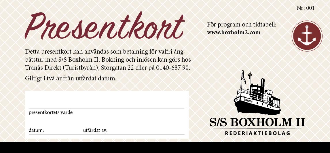 presentkort Boxholm II 2021